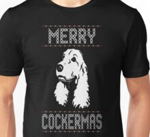 Merry Cockermas Ugly Christmas Sweater T Shirt T-Shirt Unisex T-Shirt