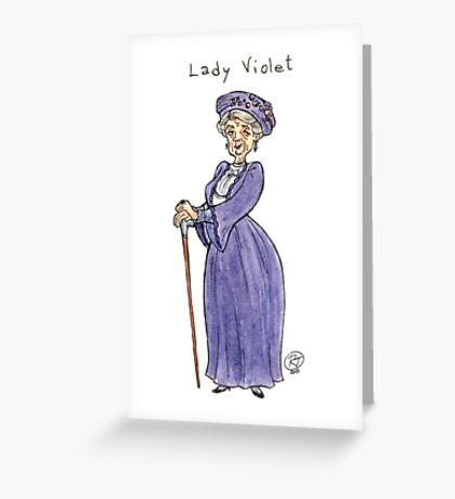 Lady Violet Greeting Card