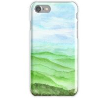 Hand drawn watercolor Landscape of highland iPhone Case/Skin