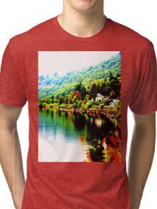 Colourful Scotland Tri-blend T-Shirt