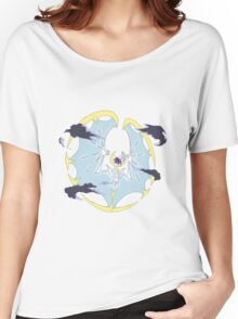 Pokemon Sun and Moon Lunala and Lille Nebby Women's Relaxed Fit T-Shirt