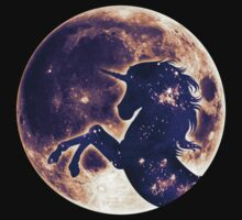 Unicorn, moon, fullmoon, fantasy, magic, horse, fantastic, beast Kids Tee