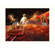 Spaceman - grand trans-mars railway Art Print