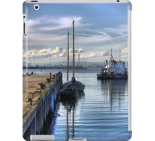 Reflections at Workman's Pier. iPad Case/Skin