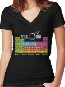 Materia Table Women's Fitted V-Neck T-Shirt