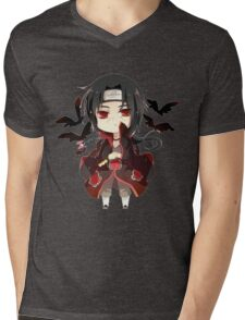 ITACHI Mens V-Neck T-Shirt