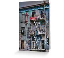 Chinese Laundry - Oil Greeting Card