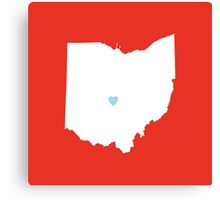 Ohio Love Canvas Print