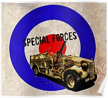 Vintage Special Forces Truck Poster