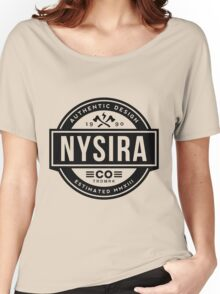 Nysira Insignia Black Women's Relaxed Fit T-Shirt