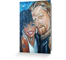 """In Love"" - Interracial Lovers Series by Yesi Casanova Greeting Card"