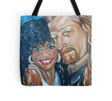 """In Love"" - Interracial Lovers Series by Yesi Casanova Tote Bag"