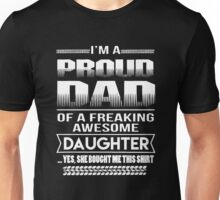 Proud Dad of a daughter T-shirt Unisex T-Shirt