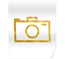 Modern Camera Graphic (gold) Poster