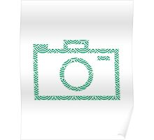 Modern Camera Graphic (wave pattern) Poster