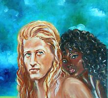 Vikings in America -BH - Detail Interracial Lovers Series by Yesi Casanova