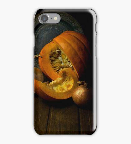 Still life with pumpkin iPhone Case/Skin