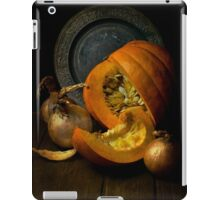 Still life with pumpkin iPad Case/Skin