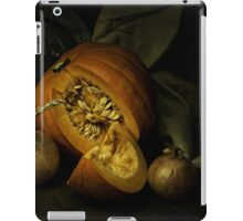 Still life with pumpkin and onions iPad Case/Skin