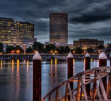 View From The South Bank - Portland Oregon by Thom Zehrfeld