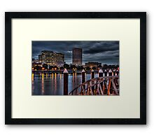 View From The South Bank - Portland Oregon Framed Print