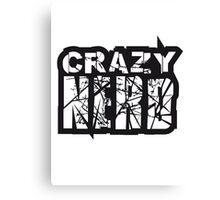 risse kratzer nerd geek schlau freak banner schriftzug elegant text schrift logo design cool crazy verrückt verwirrt blöd dumm komisch gestört  Canvas Print