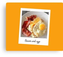 Polaroid bacon and eggs Canvas Print