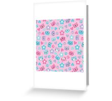 Kitty Cat Pattern by Everett Co Greeting Card