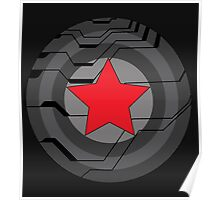 Red Star Shield Poster