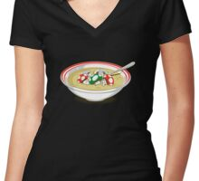 sup mushroom Women's Fitted V-Neck T-Shirt