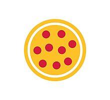 Pizza Salami Photographic Print