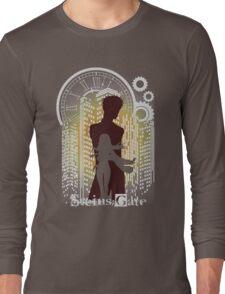 The Maker Of Time Machine (orange) Long Sleeve T-Shirt