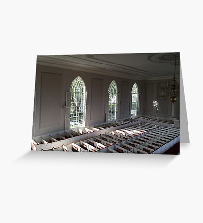 Inside First Congregational Church Greeting Card