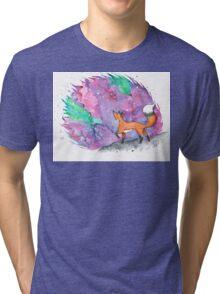 Star gazing Fox  Tri-blend T-Shirt