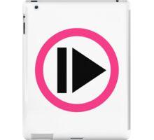 Play button music iPad Case/Skin