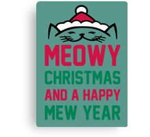 Meowy christmas Canvas Print