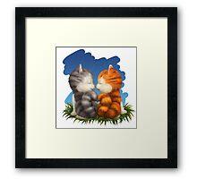 For LOVERS. For Beloved. Two kittens in love Framed Print