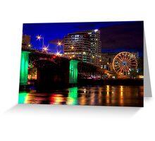 Morrison Street Bridge In Portland Two Greeting Card