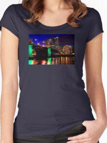 Morrison Street Bridge In Portland Two Women's Fitted Scoop T-Shirt