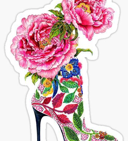 Pink flowery boots | Fashion Sticker