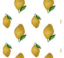 Watercolor lemon design Photographic Print