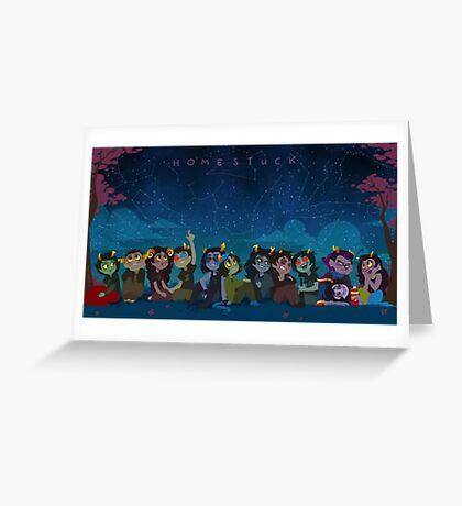 Homestuck Characters Greeting Card