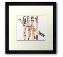 Tally Framed Print