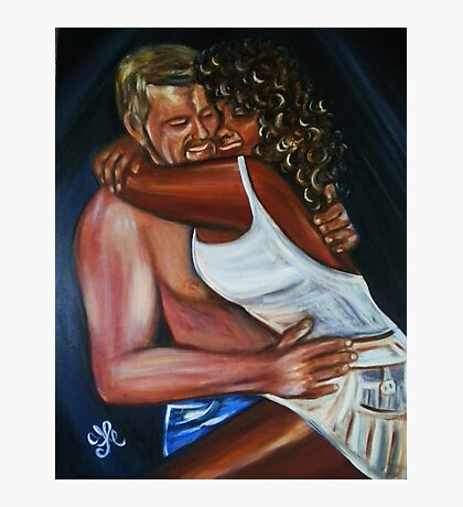 Jeny & Rene - Interracial Lovers Series  Photographic Print