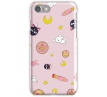 Pretty Pink Guardian Moon Pattern iPhone Case/Skin