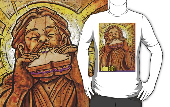 Jesus eating a PB & J sandwich!  by Aestheticz .