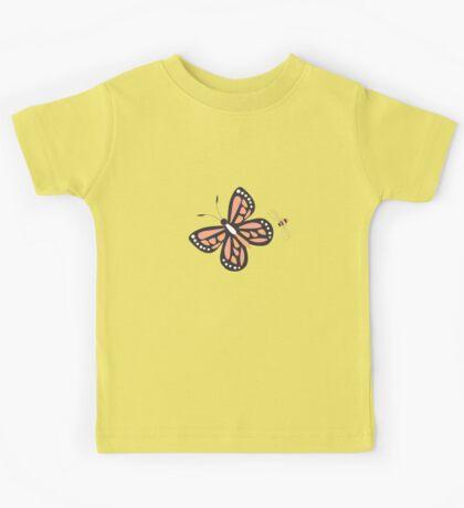 Butterflies and bees 001 Kids Tee