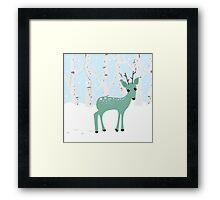 Oh Deer it's Christmas Framed Print