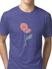 Retro flowers pattern 003 Tri-blend T-Shirt