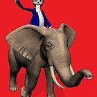 Uncle Sam Riding On Elephant by Mythos57